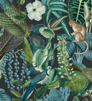 Papel pintado tropical de monos en la jungla Samoa Jungle 127210