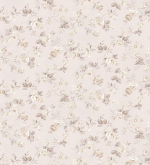 Papel pintado flores románticas estilo vintage Rosewood 127545