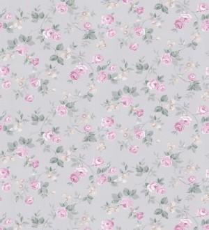 Papel pintado flores románticas estilo vintage Rosewood 127547