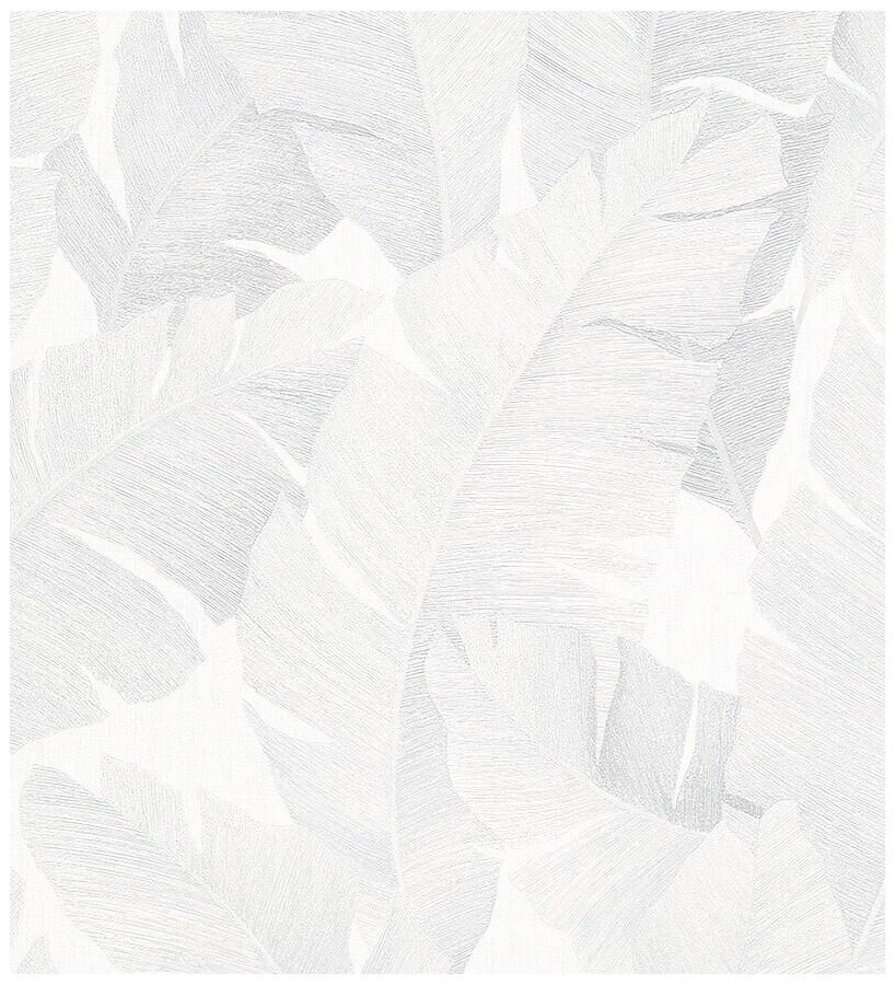 Papel pintado hojas grandes estilo tropical gris claro Florida Palms 127657