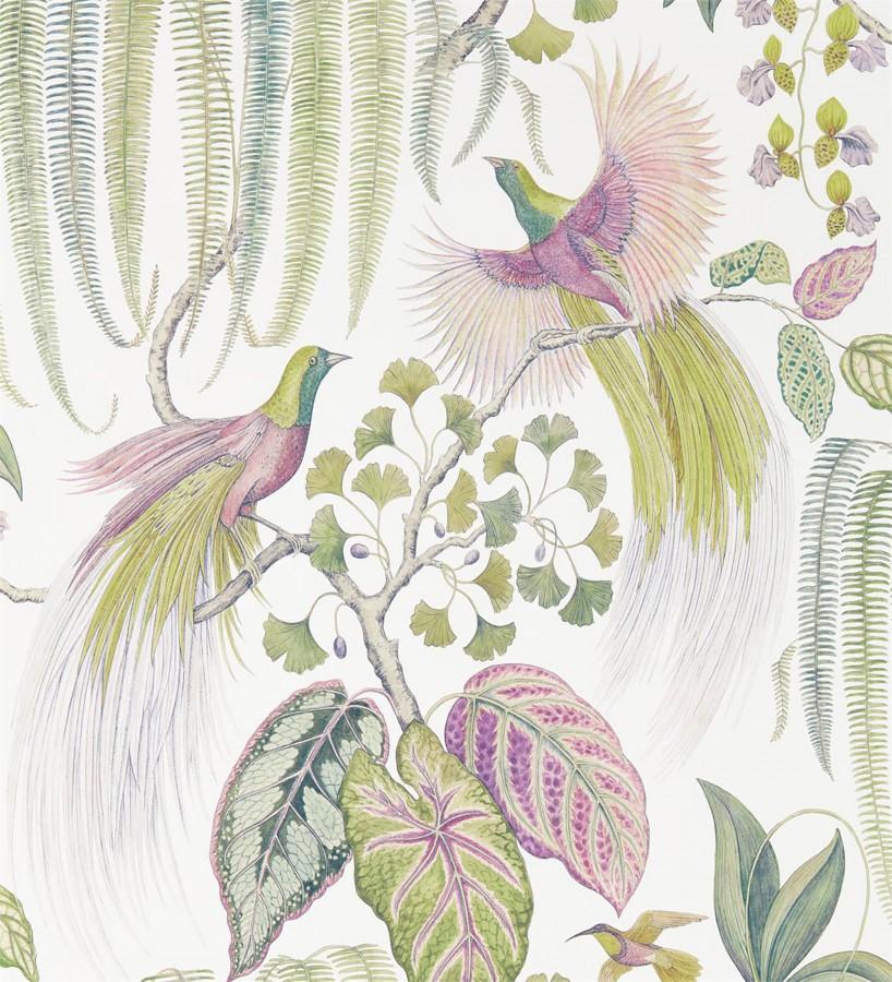 Papel pintado artístico de aves y plantas Rinko Royal 127788