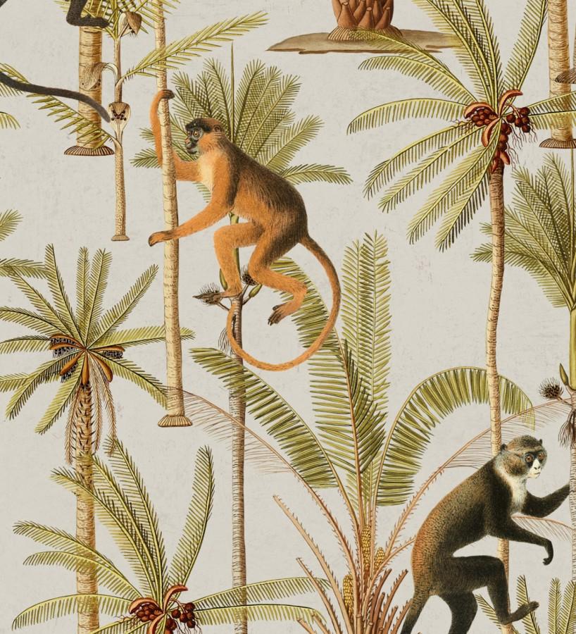 Papel pintado monos saltando en lianas Monkey Padure 127932