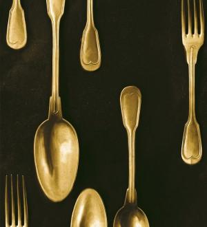 Papel pintado cubiertos vintage dorados Top Dinner 128017