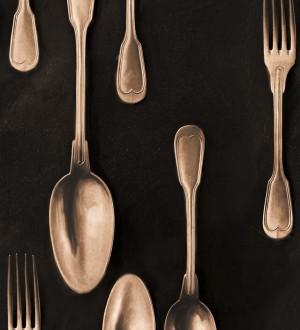 Papel pintado cubiertos vintage bronce Top Dinner 128018