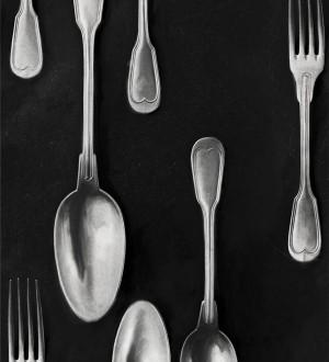 Papel pintado cubiertos vintage plateados Top Dinner 128019