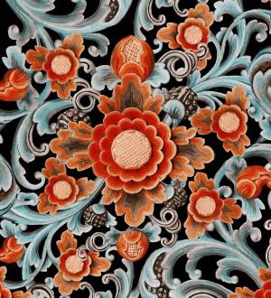 Papel pintado flores grandes colores vivos Nicola Blossom 128023