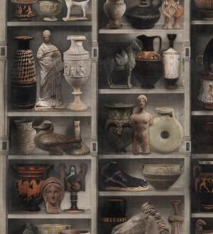Papel pintado estantería de vasijas y estatuas romanas Art History 128180