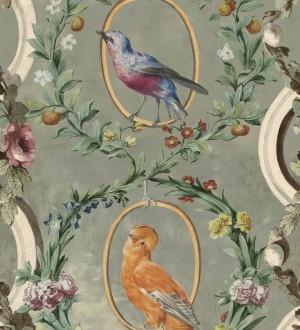 Papel pintado pájaros y flores estilo romántico Mina Garden 128188