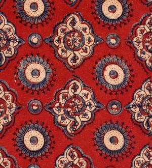Papel pintado figuras geométricas ornamentales fondo rojo Poenari Castle 128245