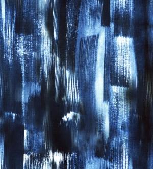 Papel pintado líneas abstractas con acuarela tonos azules Zapada 128252