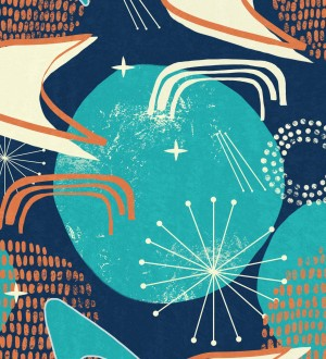 Papel pintado universo abstracto tonos azules Lost In Rutine 128275