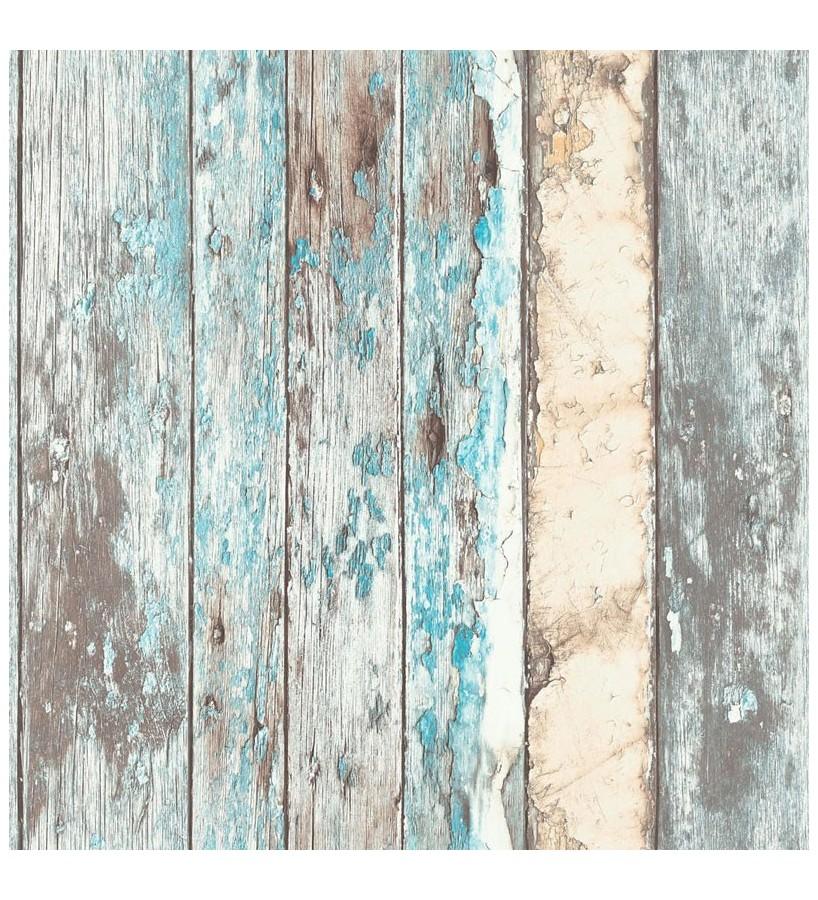 Papel pintado listones de madera desgastada estilo shabby chic Porto Caldeira 127178