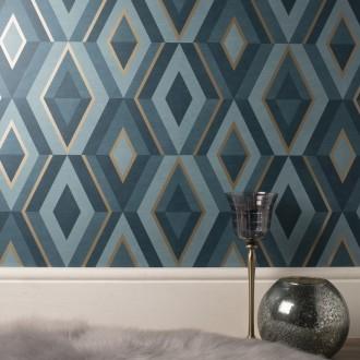 Papel pintado geometrico comprar papeles pintados for Cuadros con formas geometricas
